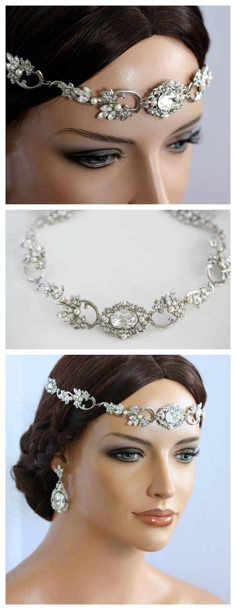 boho wedding headpiece forehead band by lulusplendor