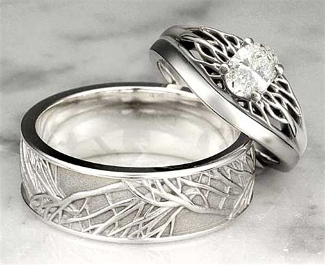 original wedding ring trend of plain metal wedding bands unique weddings unique and