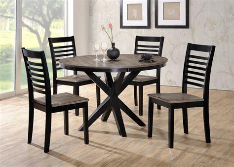 contemporary round dining room sets ebony and gray contemporary 5 piece round dining set