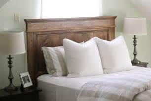 Wood Headboard Diy Steffens Hobick We Built A Bed Diy Wooden Headboard