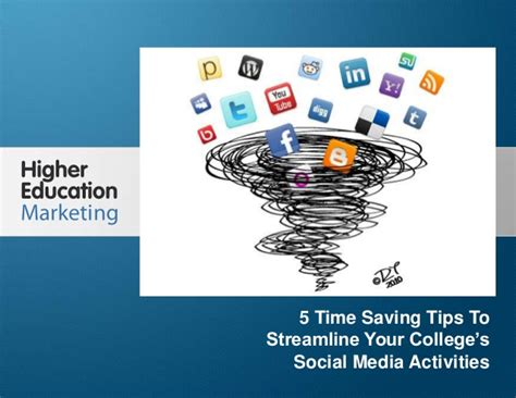 8 Timesaving Tips by 5 Time Saving Tips To Streamline Your College S Social