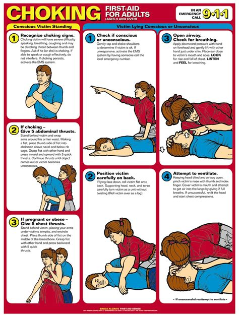 printable choking instructions choking first aid for adults chart anatomy models and