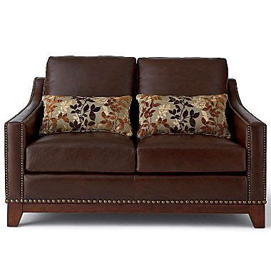 jcpenney linden street sofa linden street hanover leather loveseat jcpenney dream