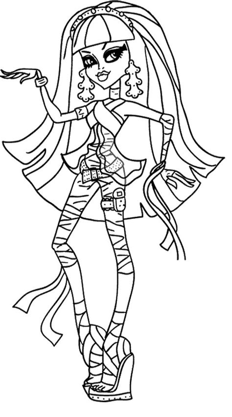 monster high coloring pages pinterest cleo de nile monster high coloring page monster high