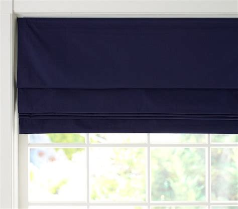 cordless shades twill cordless shade with blackout lining navy traditional shades by pottery