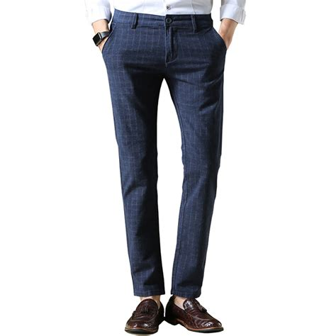 new pattern jeans for man 2016 new brand men s pants fashion plaid cotton straight