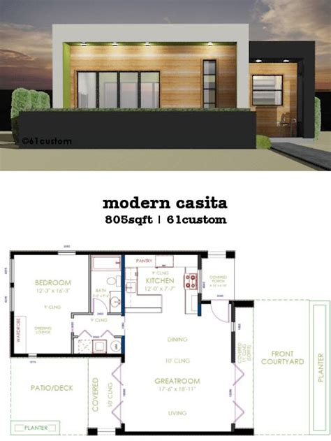 small contemporary home plans casita plan small modern house plan modern house plans