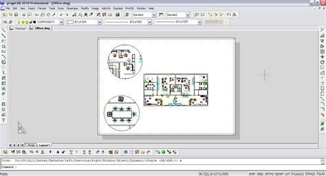autocad layout ansichtsfenster progecad professional progesoft