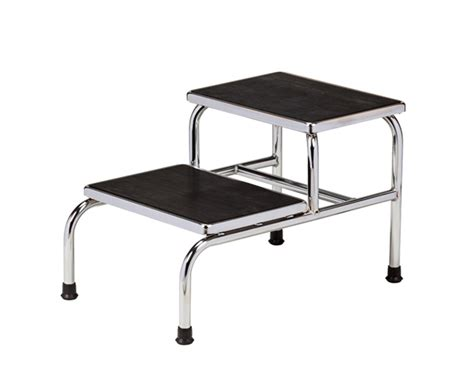 bariatric step stool with two handrails clinton industries chrome two step bariatric save at