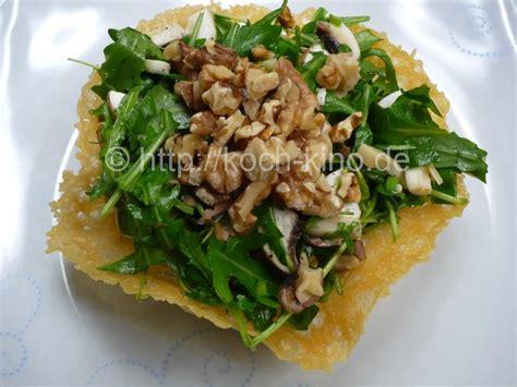 salat rezept rezept rucola salat mit waln 252 ssen im parmesan k 246 rbchen