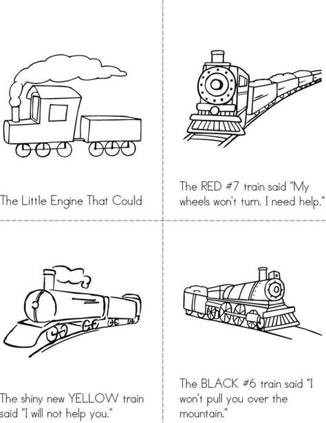 The Little Engine That Could Mini Book - Sheet 1 | Student