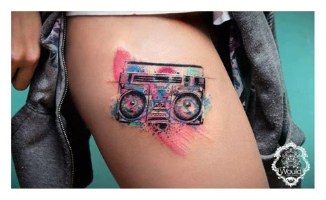 new school boombox tattoo cande tattoo artist the vandallist