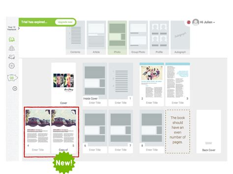 new release yearbook page template duplication fusion