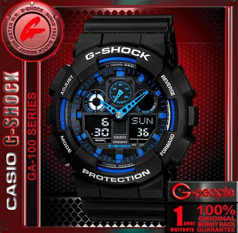 Casio G Shock Ga100 Original casio g shock ga 100 1a2 analog digital original