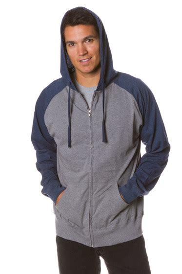 Zipper Reglan Navy Grey s lightweight raglan jersey zip hoodie sweatshirt klothwork