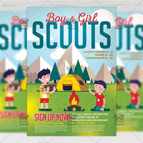 Scouts Flyer Community A5 Template Exclsiveflyer Free And Premium Psd Templates Scout Flyer Template