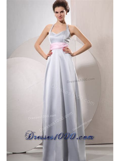 T2b A List Belted Empire Halter Dress by Wonderful Silver Empire Halter Top Evening Dress For