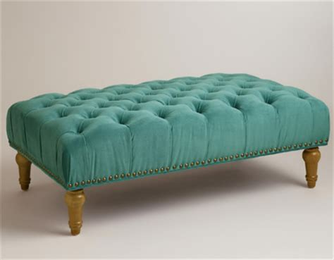 turquoise tufted ottoman office everything turquoise page 3