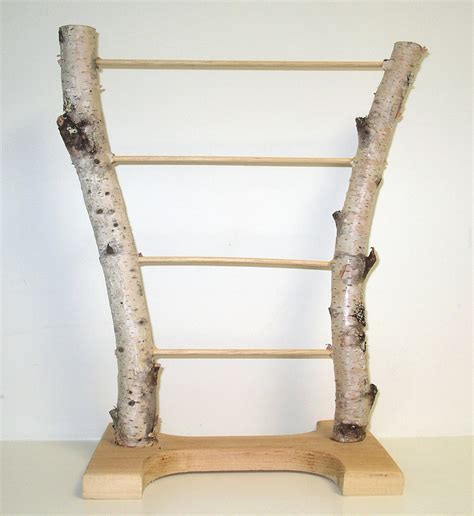 Handmade Jewelry Displays - handmade birch bark jewelry display stand by