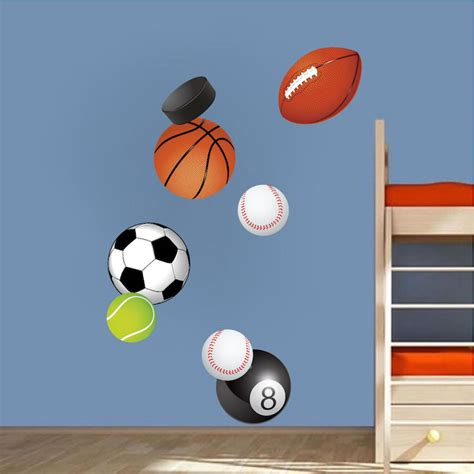 sports wall stickers sports balls wall decal murals sports stickers primedecals