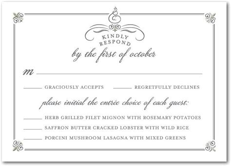 Wedding Menu Response Card Template by 13 Best Images About Rehearsal Dinner Centerpieces On
