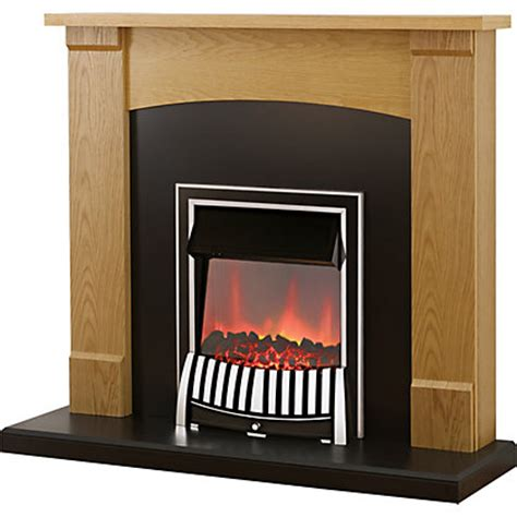 Durham Fireplace by Durham Electric Suite Oak