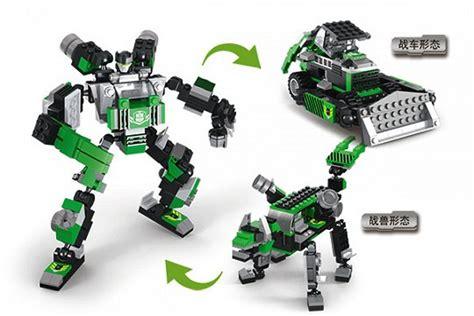 Khanza 3in1 jual beli mainan block transform robot 3in1 murah baru