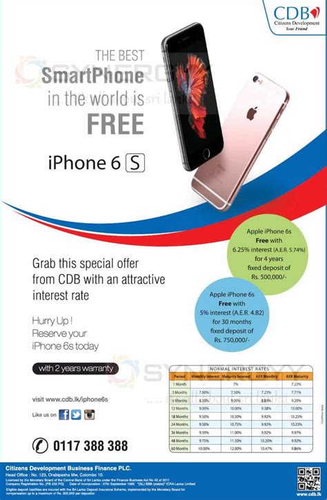 fixed deposits with cdb and get free iphone 6s synergyy