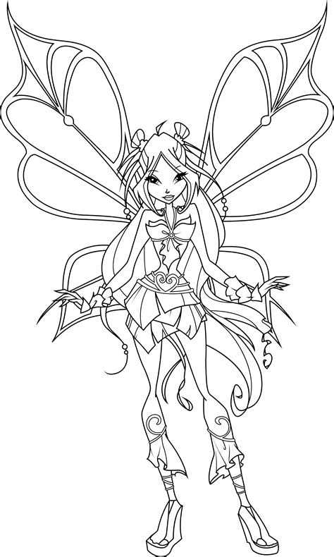 winx club bloomix coloring pages flora www imgkid com