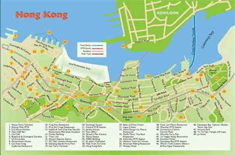 complete hong kong travel map  tourists guidance hong