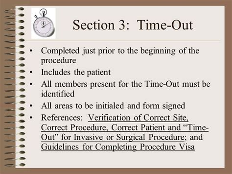 section 20 procedure time out procedure sheet pictures to pin on pinterest