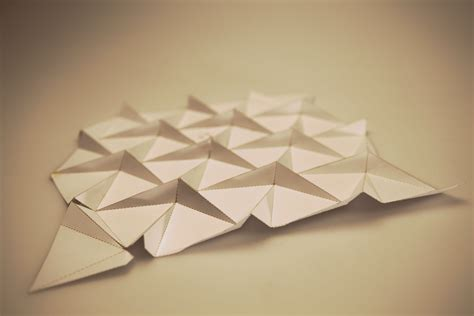 Flat Origami Designs - trokuti emotive environments research project on