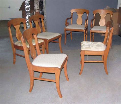 set of six vintage upholstered dining chairs olde