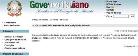 comunicato sta consiglio dei ministri precisazione della presidenza consiglio dei ministri