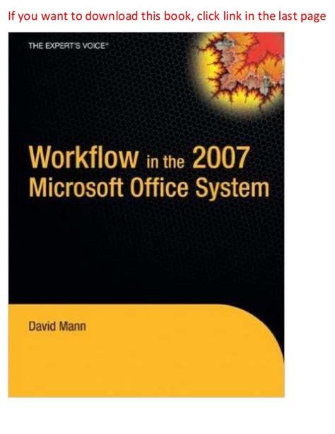 Setrika Wajah Lomela workflow in the 2007 microsoft office system pdf