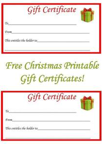 Make Your Own Gift Certificate Template Free Free Christmas Printable Gift Certificates The Diary
