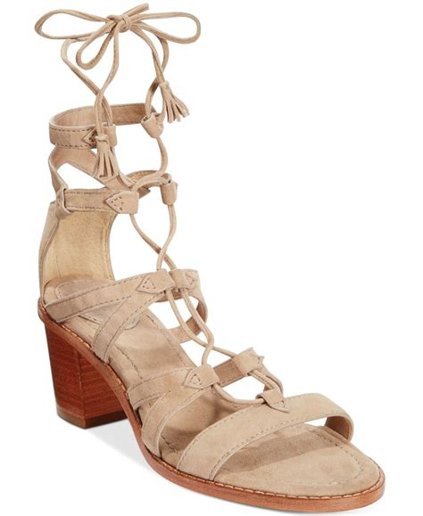 gladiator sandals lace up frye s brielle gladiator lace up sandals in gray lyst