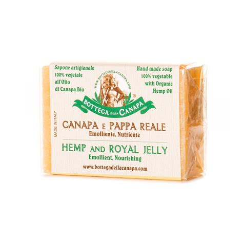 hemp soap with royal jelly bottega della canapa