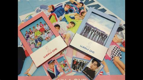 Wanna One 1st Mini Album To Be One Pink Ver Sky Ver unboxing開箱 wanna one 1x1 1 1st mini album