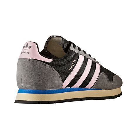 adidas originals w shoes black pink highlights