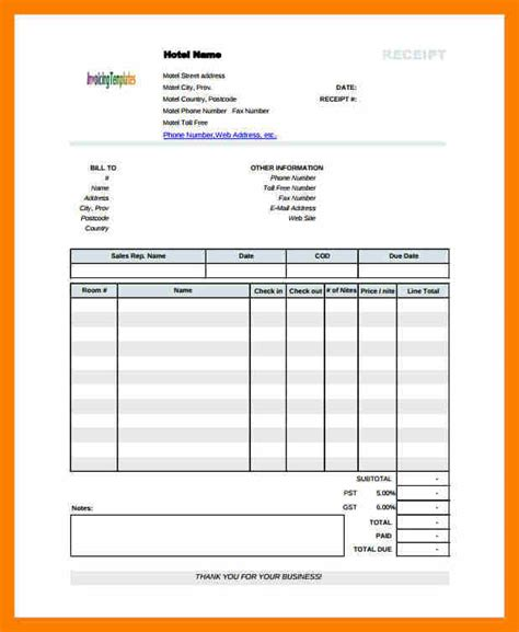 Medical Certificate Template Microsoft 7 hotel bill format excel janitor resume