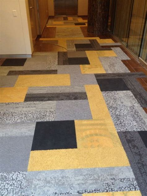 Patchwork Carpet Tiles - patchwork with interface human nature planks cut