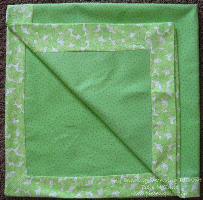 quilting blanket tutorial piece n quilt self binding receiving blanket tutorial