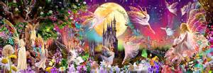 Tinkerbell Wall Mural 00311 fairyland wall mural 4 part wizard genius