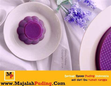 cara membuat warna ungu tua puding ubi ungu vanila paling enak resep puding