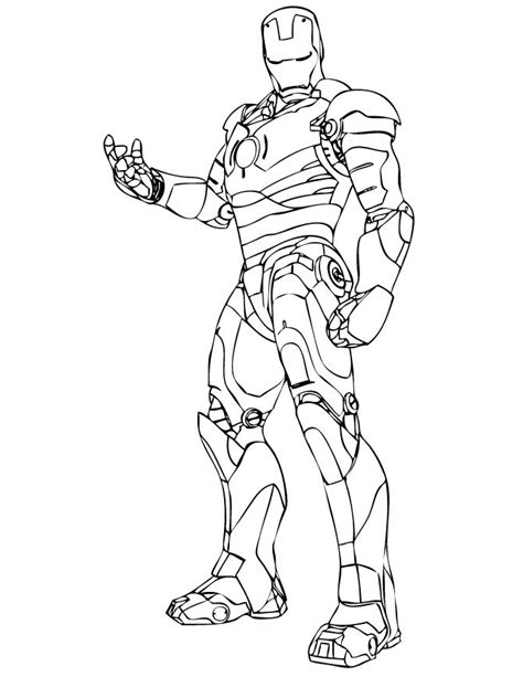 Ironman Coloring Pages iron coloring pages cool iron coloring page