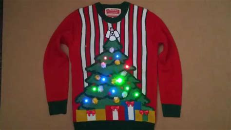 christmas tree jumper with lights lightup christmas tree jumper youtube