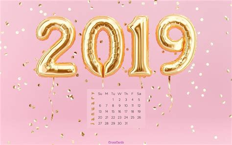 january  pink  desktop calendar  january