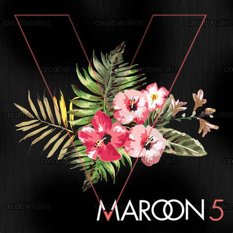 design cover maroon 5 maroon 5 album cover by tash