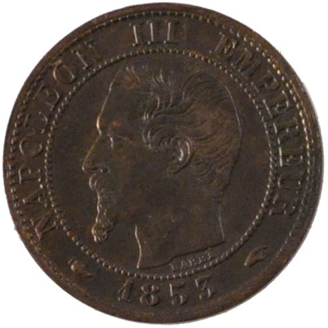 56714 second empire 1 centime napol 233 on iii t 234 te nue